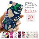 iphone7ケース 北欧 iphone6s iPhone6 ケース 北欧 テキスタイル iPhone6 手帳型 ケース 花柄 アイフォン7 レディース アイフォン アイホン iPhone ケース カバー カード収納 Plune.(プルーン) 花柄 ねこ シンプル スマホケース 携帯ケース