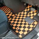 スズキ ジムニー JB23 カジュアルチェックフロアマット 全座席分セット