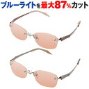 【お買い物マラソン】PCメガネ サプリサングラス Exvue NCF016 エクスビュー【縁なしウェ