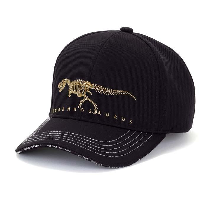 恐竜スポーツキャップティラノサウルスボーンズブラックスポーツグッズアウトドアグッズフェスグッズ恐竜グ