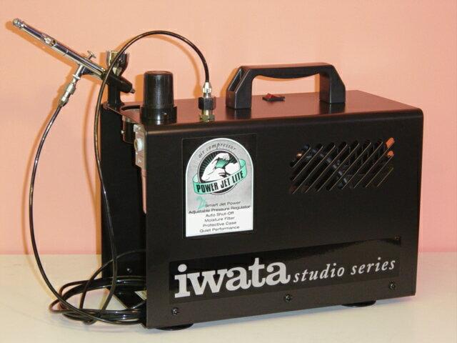 【IS-875】【在庫商品】ANEST iwataアネスト岩田イワタスタジオシリーズIS-875オイルフリーコンプレッサスマートジェットプロ エアブラシ用コンプレッサー MEDEAアネスト岩田キャンベル CAMPBELL