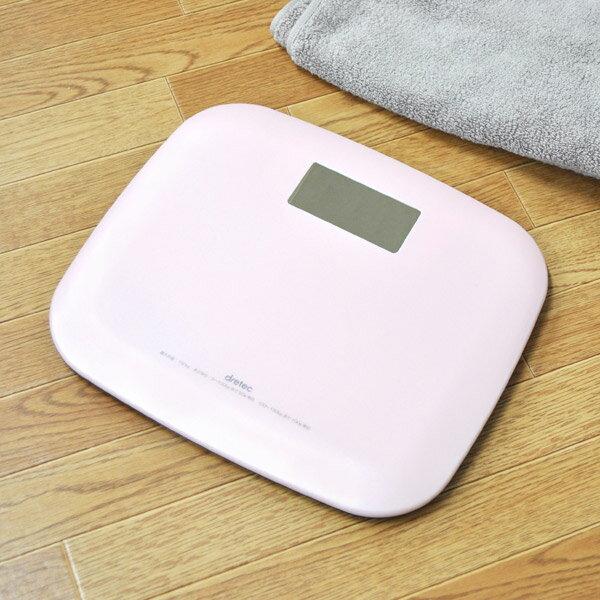 体重計ボディスケールピエトラデジタル表示(ヘルスメーター計測器健康管理スリムコンパクトたいじゅうけい