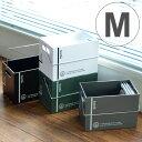 収納ボックス M 幅14×奥行22×高さ16cm コンテナ プラスチック製 ( 収納ケース 収納 持ち手付き 小物収納 角型 ボックス スタッキ..