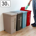 ゴミ箱 30L ふた付き スライドペール 30リットル リーフ ( ごみ箱 20l ダストボックス キッチン フタ付き プラスチック スリム ペール 角型 縦型 分別ゴミ箱 蓋付き おしゃれ )【3980円以上送料無料】