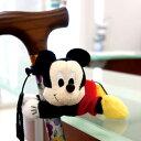 杖ホルダー おでかけマスコット ミッキーマウス キャラクター ( 杖 ステッキ 杖転倒防止 目印 ミッキー 歩行補助 ディズニー Disney ステッキホルダー 傘ホルダー 傘フック マスコット 敬老 プレゼント ギフト アクセサリー )【4500円以上送料無料】