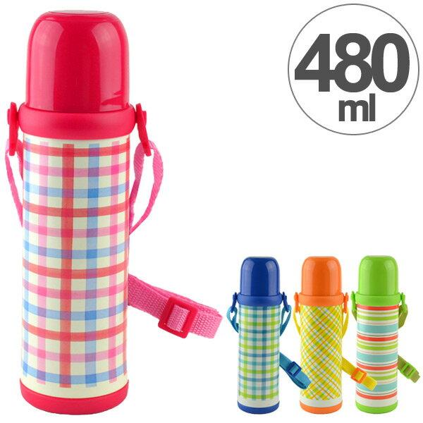 水筒2WAYボトル480mlステンレス製スマイルピート直飲みコップ付き(約500ml保冷保温機能付き