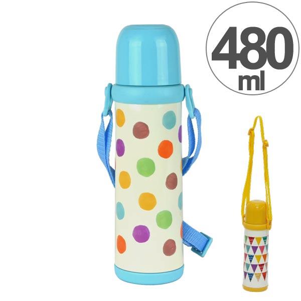 水筒2WAYボトル480mlステンレス製スマイルピートL直飲みコップ付き(約500ml保冷保温ショル