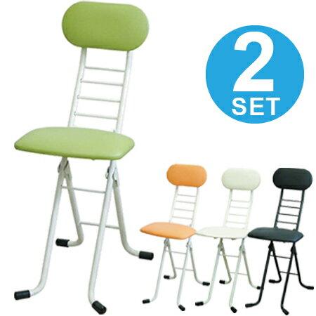 折りたたみ椅子 ワーキングチェア ジョイ 2脚セット 座面高さ調節 ( 送料無料 カウンターチェア デスクチェア ハイチェアー フォールディングチェア パイプ椅子 イス 昇降 キッチンチェア )