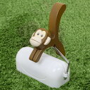 粘着クリーナー サル 猿 粘着ローラー 木製 カーペットローラー テープカバー付き ( 粘着シート カーぺットクリーナー 粘着テープ 天然木...