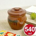 漬物容器 ミニ壺 0.54L 蓋付 陶器 ( 漬物樽 つけもの容器 漬け物容器 ぬか漬け 漬けもの