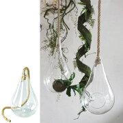 花瓶 ガラスハンギングベース Mサイズ ( 花瓶 花器 ガラス エアプランツ 多肉植物 ガーデン ) 【4500円以上送料無料】