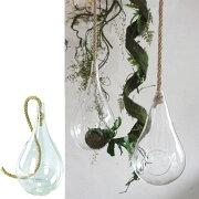 花瓶 ガラスハンギングベース Lサイズ ( 花瓶 花器 ガラス エアプランツ 多肉植物 ガーデン ) 【4500円以上送料無料】