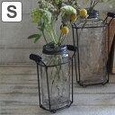 RoomClip商品情報 - フラワーベース アイアンボトルベース Sサイズ ( 花瓶 花器 ガラス エアプランツ 多肉植物 ガーデン ) 【4500円以上送料無料】