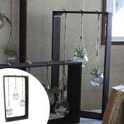 ウッドデコガラス ハイ Sサイズ ( 花瓶 花器 ガラス エアプランツ 多肉植物 ガーデン ) 【4500円以上送料無料】