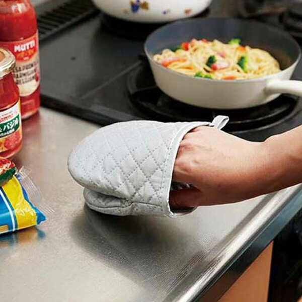ミトンダブルアルミコーティングぱくぱくミトン鍋つかみ(キッチンミトン片手ミトン耐熱ミトン両面アルミコ