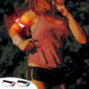 アームバンド セーフティバンド フラッシュ 電池式 フリーサイズ ( 安全用品 防犯対策 事故防止 ...