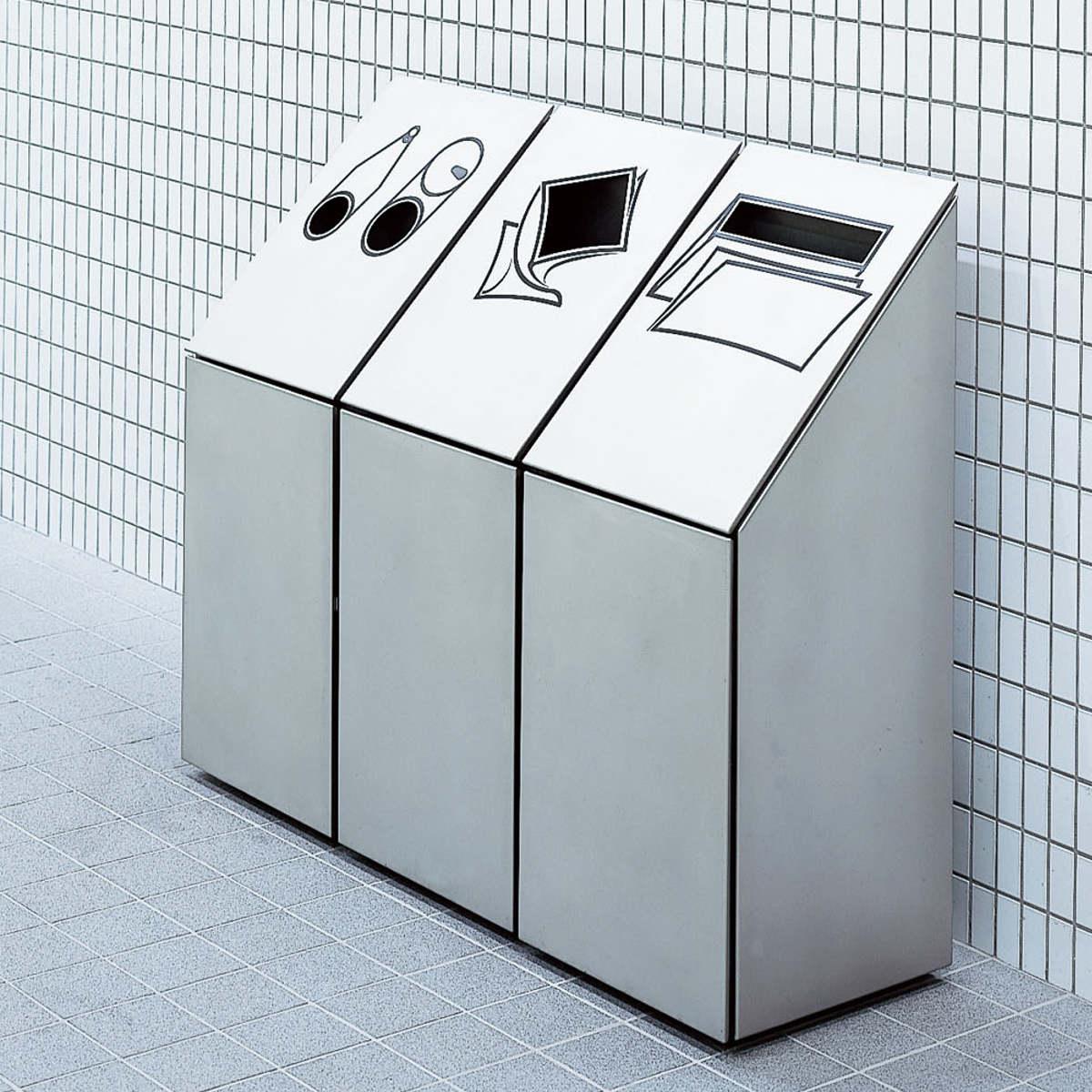 ゴミ箱 ダストボックス分別 NK-4245 3連 送料無料 【3900円以上送料無料】