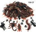 大量本物そっくり ゴキブリ 蜘蛛 ムカデ サソリ ハエ 蟻 ウジ虫 150個ジョーク玩具
