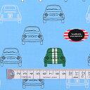 商用利用可 生地 くるま柄 入園 入学 スカイ 男の子 夢色ドライブはイタリアンカラー オックス生地 ネコポス対応