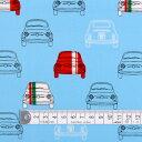 商用利用可 生地 ラミネート 生地 スカイ 男の子 夢色ドライブはイタリアンカラー ラミネート(厚み0.2mm)生地