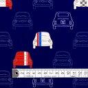商用利用可 生地 ラミネート 生地 ネイビー 男の子 夢色ドライブはフレンチカラー ラミネート(厚み0.2mm)生地