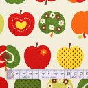 りんご柄 入園 入学 アイボリー 女の子 おしゃれリンゴのひみつ(アイボリー) オックス生地