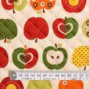 りんご柄 アイボリー 女の子 おしゃれリンゴのひみつ(アイボリー) キルティング生地