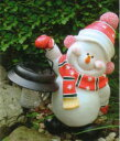 ★クリスマスイルミネーション★昼間でもかわいいです☆ LEDソーラーライトモチーフ スノーマン