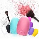 ゆうメール 送料無料 化粧ブラシ クリーナー シリコン洗濯板 メイクブラシ クリーナー 洗浄ブラシ ピンクBrushegg Makeup Brush Cleaners