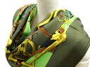 クーポン祭り エルメス スカーフ HERMES ソルド カレ 90CMS ツイル シルク100% L'INSTRUCTION DU ROY ローデングリーン/ネオングリーン/イエローゴールド 29282