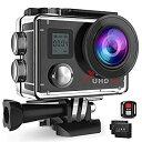 【中古】CamparkRACT76 アクションカメラ 4Kアクションカメラ 1600万画素 1080PフルHD 30fps ウルトラHD 30m防水 WiFi搭載 32GBカード対応 ウェアラブル