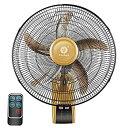 【中古】壁掛け扇風機 16インチ(3スピード) 金属 スイング ミュート リモコン付き 調整可能 ウォールファン のために 温室 住居 事業