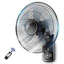 【中古】60W壁掛け扇風機アイアンアートレストランインダストリアルスタイル5リーフデザインコマーシャルブラックリモコンサードギアスピードタイミング1