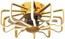 【中古】ファンライト天井 リモコンリビングルームベッドルーム扇風機ランプとライト現代のファンシーリングライト3高速調光と天井のファン シーリングフ