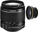 【中古】Canon 18???55?mm IS STMレンズ(ホワイトボックス) +高広角補助レンズ