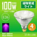 【4個まとめ買い】LED植物育成ライト E26 100W形相当 水耕栽培 ビーム球 PAR38 ビー