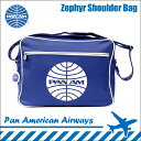 【パンナム航空】【正規品】Zephyr Shoulder Bag PanAm Blue ダークブルー ショルダーバッグ 肩掛けバッグ 斜めがけバッグ 斜め掛けバッグ メンズ レディース ユニセックス バッグ 通勤 通学 A4 大きめ PAN AMERICAN AIRWAYS パン アメリカン航空 (CH-PAN-3SP07-DARKBLUE)