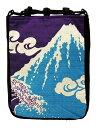 ショッピング猫 富士山 厄除け粋柄 信玄袋 兎 鯉 鯰 招き猫 富士山 和柄手提げ袋 バッグ おもしろ雑貨