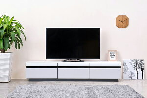 送料無料 完成品 TVボード 幅180cm ホワイト テレビ台