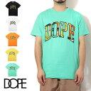 DOPE ドープ 半袖 Tシャツ TEAM K TEE ティーシャツ 半袖Tシャツ ロゴ メンズ ブラック 蛍光 イエロー グリーン オレンジ レディース B系 ストリート系 大きいサイズ XXL 2XL 3L ファッション 服 おしゃれ かっこいい 人気 ブランド