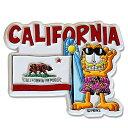 3Dマグネット/ ガーフィールド with CALIFORNIA州旗 【メール便対応】