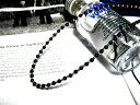 Silver&オニキス数珠連結チェーン【45cm】ネックレス オニキス チェーン パワーストーン メ...