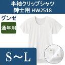 介護 肌着 介護用品/下着・肌着・介護用・インナー/介護用肌着 半袖クリップシャツ 紳士用 S〜L グンゼ
