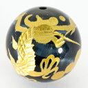 【彫刻ビーズ】ブルータイガーアイ 16mm (金彫り) 五爪龍 [1粒売り(バラ売り)] 【パワーストーン 天然石 アクセサリー】