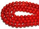 【丸ビーズ】赤珊瑚 10mm (ブレスレット約1本分) 【パワーストーン 天然石 アクセサリー 半連売り】