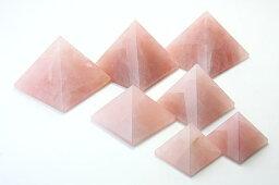 【置き石】ピラミッド型 約30mm ローズクォーツ (1個)※DM便・ネコポス不可※ 【パワーストーン 天然石 アクセサリー】
