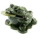 【彫刻置物】銭蛙(三本足蛙) グリーンジェード (小) ※DM便・ネコポス不可※ 【パワーストーン 天然石 アクセサリー】【05P05Nov16】