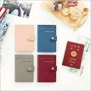 パスポートケース スキミング防止 Snap passport case かわいい 航空券 収納 チケット 個人情報保護 シンプルボタン フック ゆうパケット