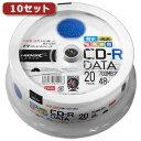 HIDISC 10セットHI DISC CD-R(データ用)高品質 20枚入 TYCR80YPW20SPX10 取り寄せ商品