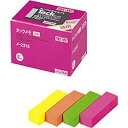 コクヨ メ-2315 タックメモ 徳用 蛍光色タイプ 付箋 52×14.5mm 25本 4色 取り寄せ商品